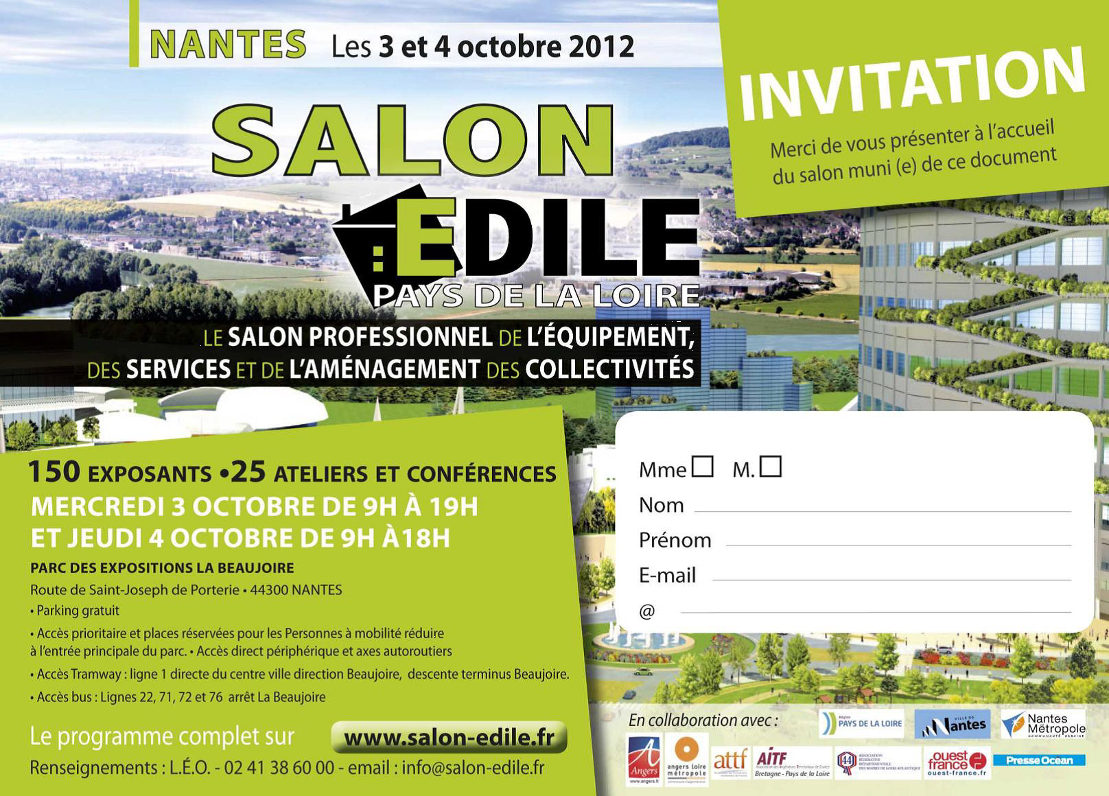 Participation au Salon EDILE en 2012